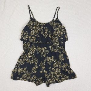 Wet seal floral romper size large